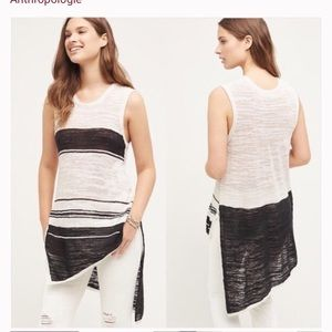 Anthropologie asymmetrical stripe tank